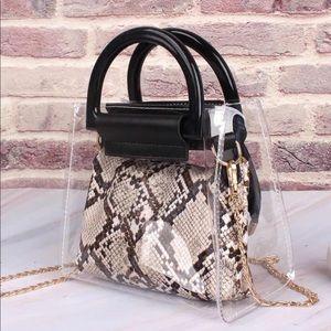 Handbags - Double Trouble Python Transparent Mini